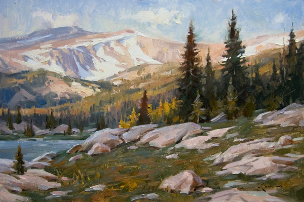 Mitch Baird, Alpine Light, oil, 16 x 24.