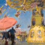 James Crandall, Swing Carousel, oil, 20 x 30.