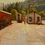 Aimee Erickson, Hood River Rail Yard, oil, 24 x 18.