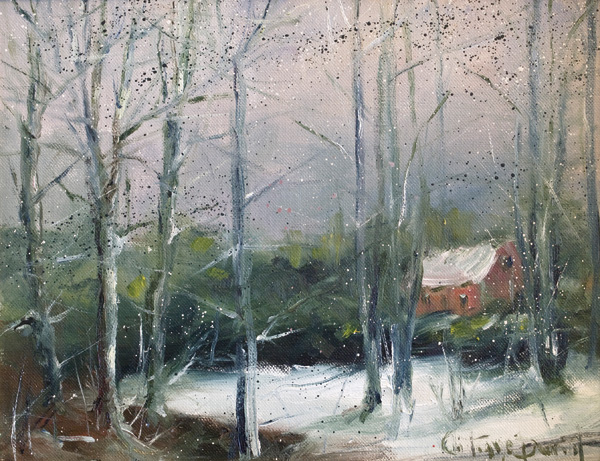 Christiane David, White Afternoon, oil, 11 x 14.