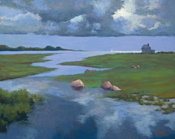 Jean Hirons, Summer Storm, pastel, 16 x 20.