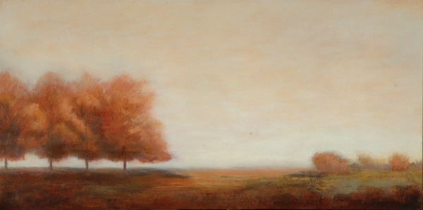 Jamie Kirkland, In the Lineup, oil, 24 x 48.