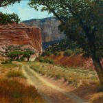 Dan Bodelson, A Road Well Traveled, oil, 24 x 30.