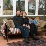 Scott Burdick and Susan Lyon at their art studios in Quaker Gap, NC