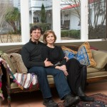 Scott Burdick and Susan Lyon at their art studios in Quaker Gap, NC