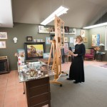 Susan Lyon at her art studio in Quaker Gap, NC