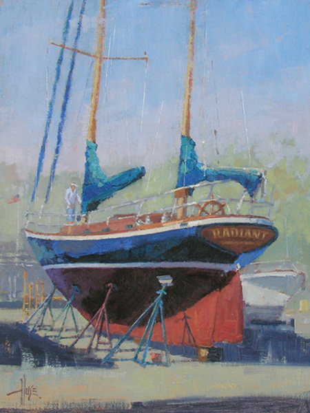 Debra Huse, Another Adventure Afloat, oil, 16 x 12.