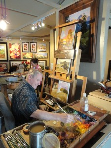 Artists Mac Stevenson and Heidi Rosner in their working studios.