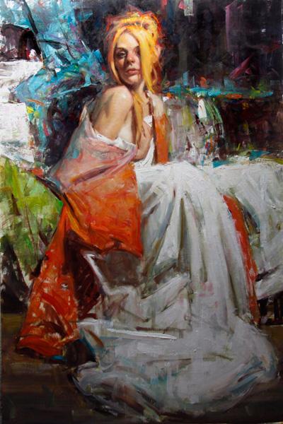 Kevin Beilfuss, Aiya La Faye, oil, 42 x 28.