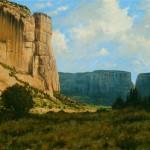 Dan Bodelson, Canyon Cliffs, oil, 20 x 30.
