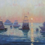 Debra Huse, Catalina Sunrise, oil, 8 x 10.