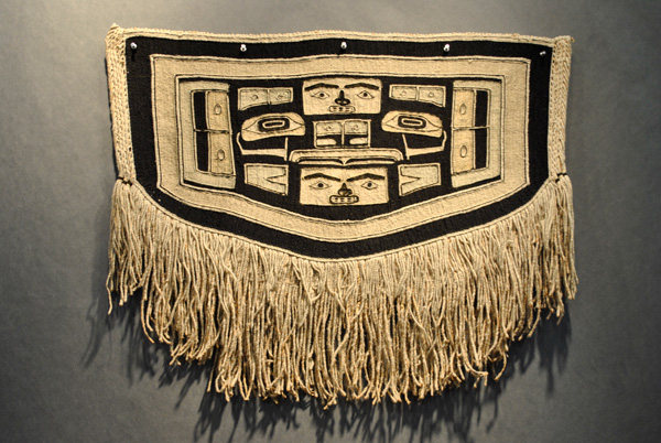 Chilkat tribal blanket from the Northwest coast.