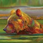 Nancy Cawdrey, Cooling Off, dye on silk, 34 x 40.