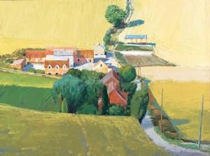 Len Chmiel, County Kent, oil, 25 x 36.