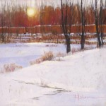 Dinah Worman, Winter Sun, pastel, 20 x 24.