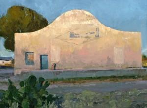 Len Chmiel, Early, Marfa Texas, oil, 12 x 16.