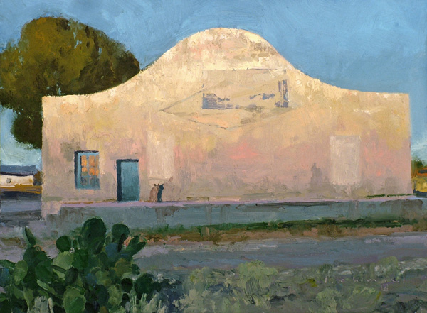Len Chmiel, Early, Marfa Texas, oil, 12 x 16.