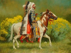 Dan Bodelson, Fall Colors, oil, 30 x 40.