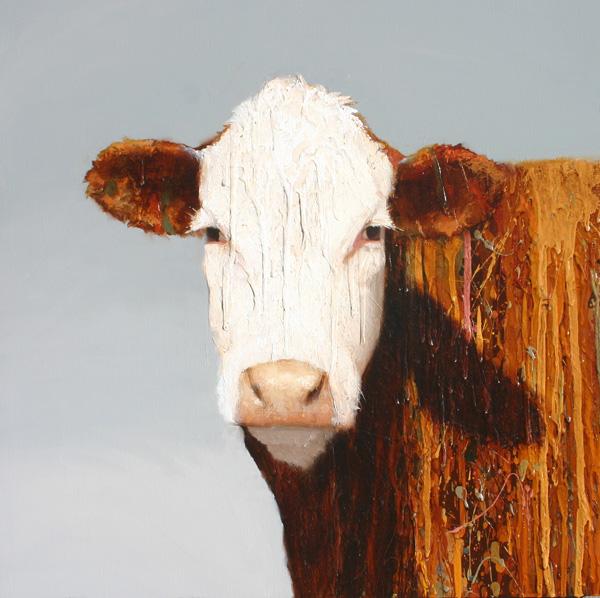 Charley Snow, Gerdie, oil, 20 x 20.