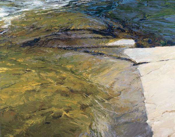 Len Chmiel, Gold Rush, Yuba River, oil, 444 x 56.