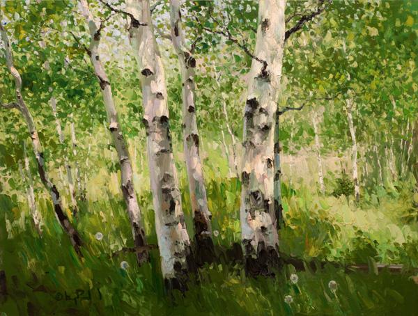 Gregory Packard, Summer, oil, 30 x 40.