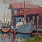 Debra Huse, Historic Oyster Buy Boat, Cheaspeake Bay, oil, 16 x 20.