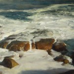 John McCartin, The Restless Tide, oil, 28 x 47.