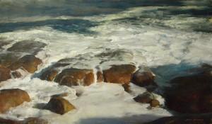 John McCartin, The Restless Tide, oil, 28 x 47.