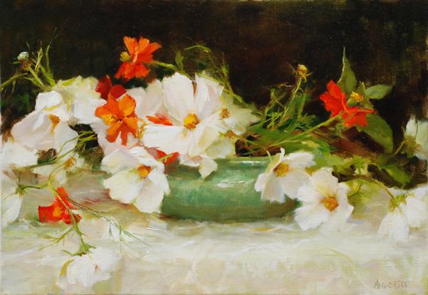 Kathy Anderson, Cosmos Rhythm, oil, 10 x 14.