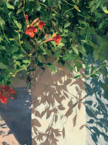 Len Chmiel, Life in Ojai, oil, 16 x 12.