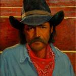 Dan Bodelson, New Mexico Cowboy, oil, 24 x 20.