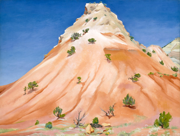 Georgia O'Keeffe, Hill, New Mexico, oil, 30 x 40.