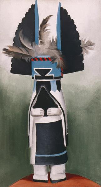 Georgia O'Keeffe, Kachina, oil, 22 x 12.