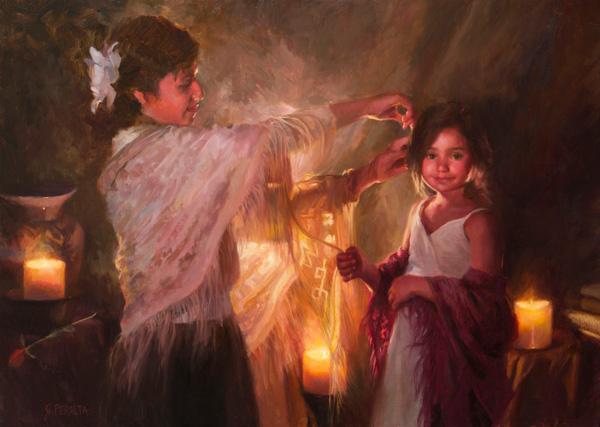 JoAnn Peralta, Evening Glow, oil, 26 x 36.