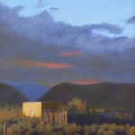 Patricia Jacobsen, Evening Light on Adobe, oil, 12 x 9.