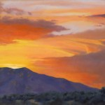 Patricia Jacobsen, Taos Sunset, oil, 11 x 14.