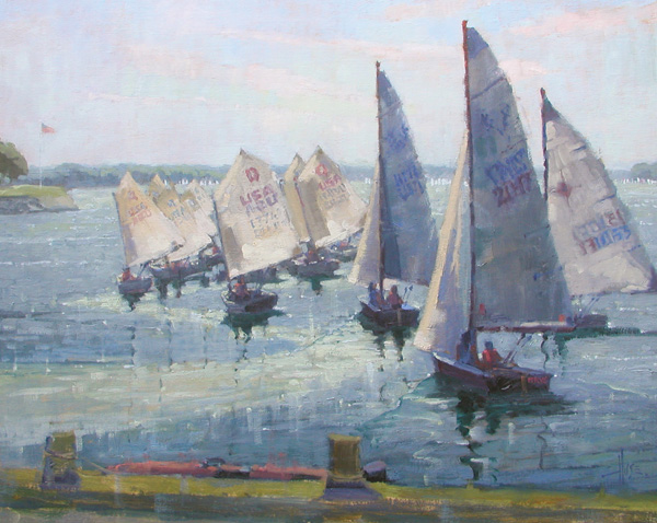Debra Huse, Regatta Morning, oil, 20 x 24.