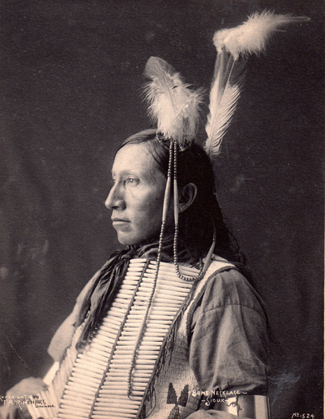 F.A. Rinehart, Sioux Indian, circa 1890, photograph.