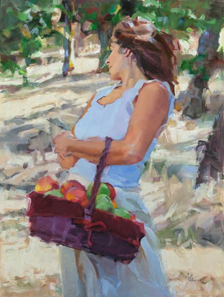 Ilene Gienger-Stanfield, Summer's Gift, oil, 24 x 18.