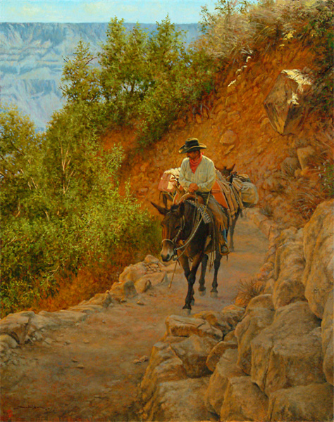 Dan Bodelson, Up From the Canyon, oil, 30 x 24.