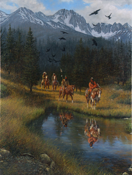 Dan Bodelson, Valley of the Crow, oil, 48 x 36.