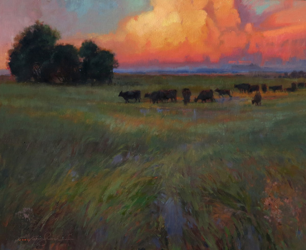 Virginia Vaughan, See Thunder, oil, 24 x 30.