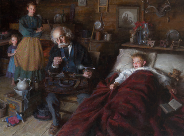 Morgan Weistling, The Country Doctor, oil, 36 x 48.