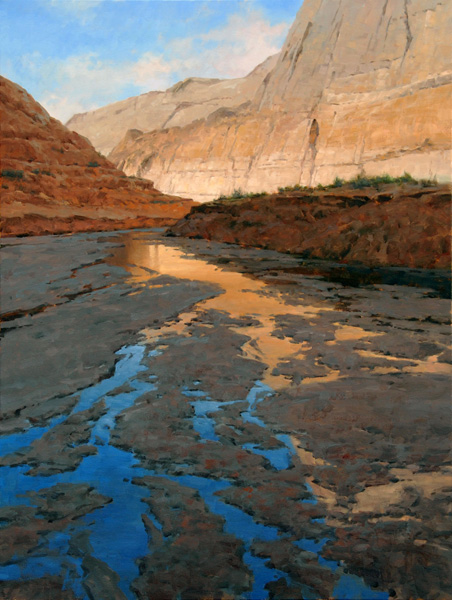 Jim Wilcox, Moki Canyon Reflections, oil, 40 x 30.