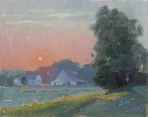 Debra Huse, Warm Summer Sunrise, oil, 11 x 14.