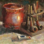 Brent Jensen, Pipe Essentials, oil, 10 x 12.
