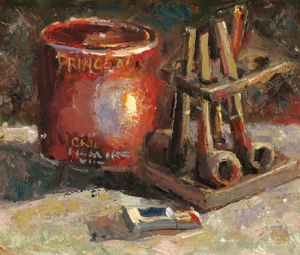Brent Jensen, Pipe Essentials, oil, 10 x 12.