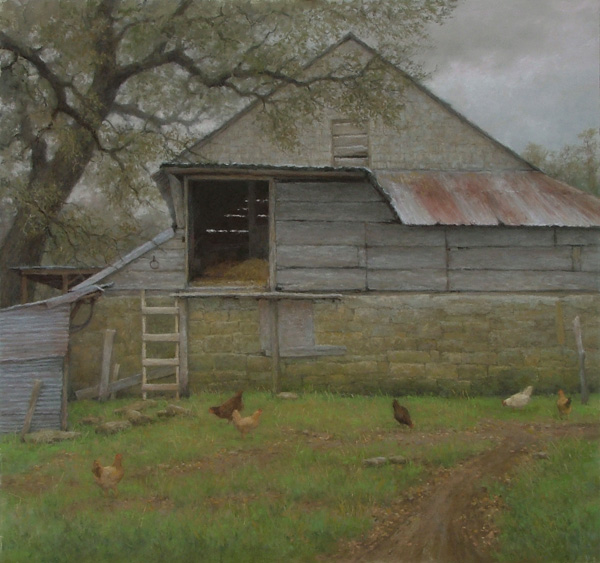 D. LaRue Mahlke, Luckenbach - Looking Back, pastel, 19 x 20.