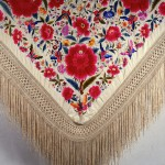 Shawl, China or Philippines, 19th century, silk, 56 x 56.
