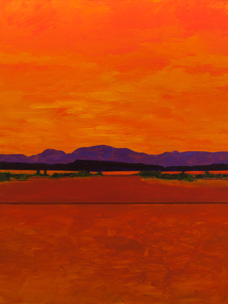 Mark Bowles, Southwest Ridge, acrylic, 48 x 36.